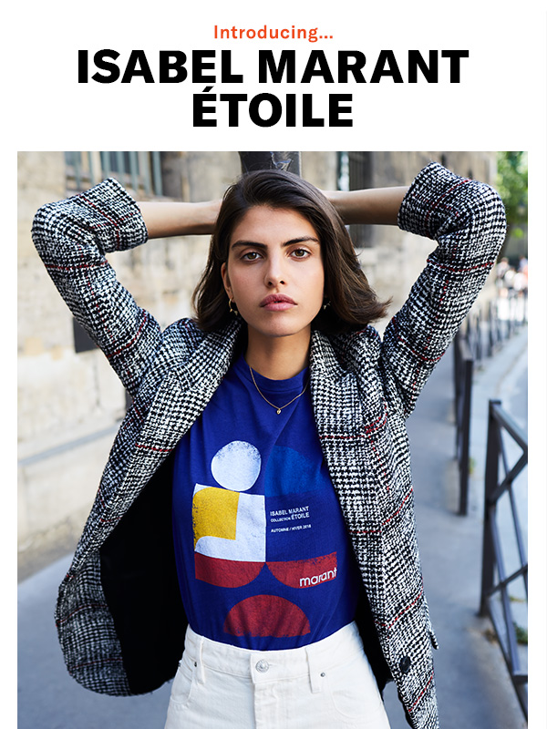 The iconic Parisian designer makes her Shopbop debut with two (impossibly cool) collections: Isabel Marant Étoile and Isabel Marant accessories.